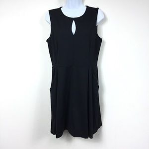 CYNTHIA ROWLEY KEYHOLE SLEEVELESS DRESS